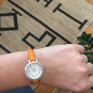 "NEW cute ""mini"" Fossil Watch Genuine Leather"